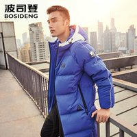 warmest goose down parka NZ - BOSIDENG new Long 90% Goose down parka for men down jacket hoodie winter thicken high quality warm outwear Chic B70146165 L18101104