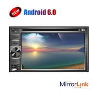 Wholesale android car mirror gps - Android 6.0 Double Din IN Dash Head Unit GPS Car Stereo car DVD CD Player Multi-Touch Screen Phone Mirroring WIFI Remote Control