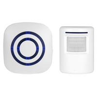 ingrosso sicurezza domestica wireless wireless-Campanello per porte di benvenuto con campanello senza fili digitale con sensore PIR Allarme di induzione rilevatore a infrarossi per la sicurezza domestica 30PCS / LOT
