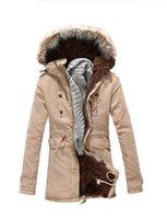 Wholesale mens big fur coat - Big Mens Winter Coats 2017 Brand Fashion Warm Cold Winter Fur Hooded Jacket Men Parka Men Long Padded Coat Top 3XL