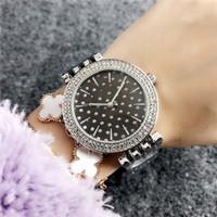 sieht schnürsenkel großhandel-Armbanduhr aus roségoldfarbener Sternspitze mit einer Diamantsternquarzuhr, Markenlogo