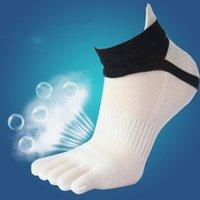 calcetines de dedo del pie masculino al por mayor-1 par de calcetines de alta calidad para hombre, calcetines con punta de algodón para hombre, marca de cinco dedos para hombre, corto de verano