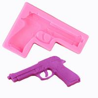 silikon oyuncaklar kek toptan satış-Oyuncak tabanca AB UV reçine epoksi silikon kalıp DIY sabun Fondan Kek Dekorasyon pişirme araçları