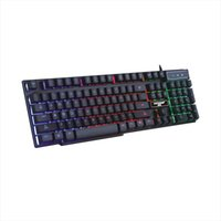laptop arco-íris venda por atacado-Backllit Gaming Teclado Gamer USB Com Fio Rainbow cor Backlight LED Preto Branco para Computador Desktop PC Laptop