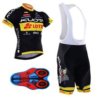 Wholesale kuota cycle jersey - Kuota Tour De France Cycling Jersey maillot ciclismo bike clothing men MTB Bicycle jersey bib shorts silicone pad
