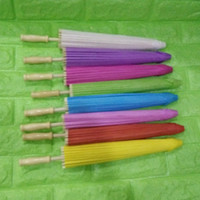 Wholesale Children Beach Paintings - (100 pieces lot) New small blank paper umbrellas for Children DIY painting Diameter 15.7 inches many colors available free ship