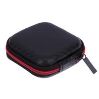 sabit taşıma çantası kulaklık toptan satış-Mini Taşınabilir Kulaklık Kılıf Depolama Taşıma Çantası Kulaklıklar Kabloları Hatları Hard Case Kablolar SD Kartları Kulaklıklar Saklama Kutusu Çanta Kutusu