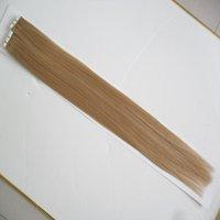 en iyi sarışın uzantılar toptan satış-Toptan Remy Bant Saç Uzantıları adesiva 40 adet / grup 10-26 inç Sarışın Bant İnsan Saç Uzatma Düz Brezilyalı PU Cilt Atkı Saç