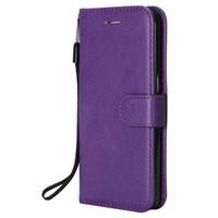 tapa trasera al por mayor-Funda billetera para Samsung Galaxy S7 Flip cubierta posterior de color puro de cuero de la PU bolsos del teléfono móvil Coque Fundas para Samsung Galaxy S7 Edge