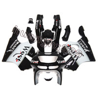 Wholesale Kawasaki Zx6r Fairing 1995 - New Injection ABS Covers Black White Fairings For Kawasaki Ninja ZX6R 1994 - 1997
