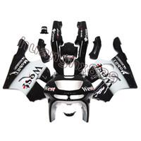 kawasaki branco ninja zx6r venda por atacado-Novo ABS Injeção Cobre Preto Branco Fairings Para Kawasaki Ninja ZX6R 1994-1997