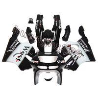 carenados 1995 al por mayor-Nuevas cubiertas ABS de inyección Carenados blancos negros para Kawasaki Ninja ZX6R 1994 - 1997