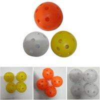 agujero de bola de plástico al por mayor-20pcs diámetro 4.26 cm bolas de entrenamiento de golf de plástico de flujo de aire hueco con agujero bolas de golf práctica al aire libre al aire libre