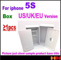 Wholesale Iphone Box Eu Accessories - 1pcs For iPhone 5S US EU UK Version Empty Phone Package Packing Box Case Without Accessories phone box protectors free shipping