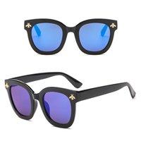 6389aae04ff4e 2018 new fashion abelha óculos de sol grande praça designer de óculos de sol  para as mulheres 6 cores atacado barato eyewear