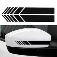 ingrosso adesivi per auto suv-15.3 * 2 cm 2 pz / lotto Car Styling Auto SUV Vinile Graphic Car Sticker Specchietto retrovisore Side Decal Stripe FAI DA TE Car Body Decalcomanie