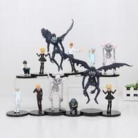 Wholesale rem anime online - Anime Cartoon Toys Death Note L Killer Ryuuku Rem Misa Amane Pvc Action Figures Toys