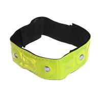 armband licht großhandel-LED Licht Radfahren Arm Band Reflektierende Draußen Sicherheitsgurt Handgelenkgurte