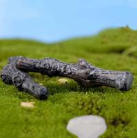 ingrosso alberi da giardino in miniatura-Secco rami di alberi Tronco artificiale Mini Fairy Garden Miniature terrario fai da te Accessori succulente Micro decorazione del paesaggio