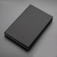 a5 lederne notizbücher großhandel-Weinlese-kühle schwarze Papier-Notizbuch-grundlegende Anmerkungs-Notizblock-Tagebuch-Zeitschrift A5 A7 PU-Leder-Büro-Schulbedarf