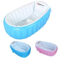 banho inflável da associação do bebê venda por atacado-Inflável Bebê Piscina Eco-friendly PVC Portátil Crianças Banheira Banheira Mini-playground Recém-nascidos Piscina Banheira