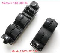 elektrischer fensterschalter großhandel-Elektrische Tür Power Master Control Fensterheber Schalter Für Mazda 3 2003-2010 BK 2008-2011 BL Linke Seitenruder BP1E-66-350 BEK6-66-350