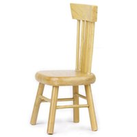 Wholesale Furniture Dining Chair - MYMF Best Sale 1 12 Dollhouse Miniature Dining Furniture Wooden Chair Wood Color
