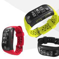 бесплатный gps blackberry оптовых-S908 GPS Smart Band Водонепроницаемый Спортивный Браслет Несколько видов спорта Монитор Сердечного ритма Вызов Напоминание бесплатно DHL