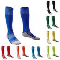 Wholesale pink body protector - Long Soccer Socks Non-slip Sport Football Ankle Leg Shin Guard Children's Compression Protector Cycling Socks 10 Colors Free DHL H102S