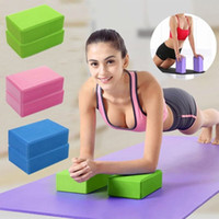 ingrosso esercizi di mattoni di yoga-EVA Yoga Block Brick Sports Esercizio Gym Schiuma Allenamento Stretching Aid Body Shaping Salute Training Fitness Brick Q