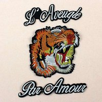 ingrosso grandi patch cucite-3 pezzi di ricamo grande Anima tigre ape patch ricamo patch applique patch fai da te moda decorativa cucire applicato fiore ricamato