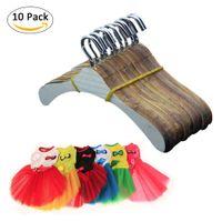Wholesale bamboo hangers - Doll accessories 10 PCS Per Pack Children's Toy Salon dolls Clothes Hanger Doll hanger for 18 inch american dolls clothes