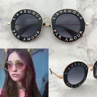 Wholesale new summer style - New fashion women sunglasses 0113 round shape crystal frame fashion summer style UV400 lens with new case
