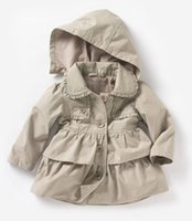 Wholesale winter jackets for baby girls - Kids clothing 2018 New Baby Toddler girls lapel Waistband Windbreaker Coat Outerwear Jacket for winter or autumn