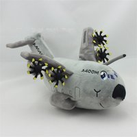 Wholesale diy kids furniture - Aircraft Plush Doll Mascot Simulation Airplane Gift Toy Child Kid Soft Grey Stuffed Toys Boy Cartoon ht V