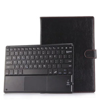 Wholesale touchpad cover case - Universal 9 9.6 9.7 10 10.1 inch ios Android Windows Tablet PC Bluetooth Touchpad Keyboard With Leather Case Stand Cover +Stylus