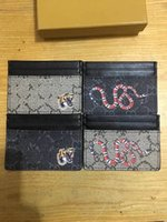 Wholesale Pink Apricot - Classic free shipping black snake bee apricot men's women's credit card bag purse