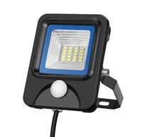 mini projecteur achat en gros de-La lumière de mur de sécurité de capteur de mouvement de LED PIR mini 10W CA 85-265V de projecteurs extérieurs de sécurité allume LLFA