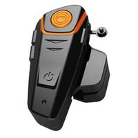 ingrosso bt casco auricolare-Auricolare Bluetooth per moto all'ingrosso- Interfono impermeabile al 100% per moto BT-S2 Auricolare Bluetooth per auto Bluetooth con funzione FM