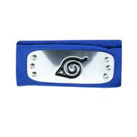 logo kafa bandı toptan satış-ANIME Naruto Bandı 95 cm Yaprak Köy Logosu Konoha Kakashi Akatsuki Üyeleri Cosplay Kostüm Aksesuarları mavi kırmızı siyah