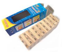 figürlü pokemon çocukları toptan satış-5.1 * 1.7 * 0.9 CM Parke Oyun Yapı Taşları Oyunu 54 Adet Ahşap İstifleme Yuvarlanan Kule Blokları İçme Oyunu Noel hediyesi toptan