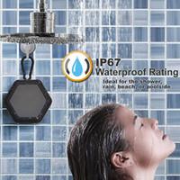 ip67 wasserdichtes mobiltelefon großhandel-Drahtlose Bluetooth-Lautsprecher IP67 Wasserdichter Lautsprecher Tragbarer MP3-Player im Freien mit TF-Anschluss für iPad-Handy-Stereolautsprecher