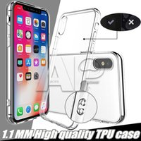 Wholesale Iphone Cover Silicone Gel - High Quality For Iphone X 10 8 7 Plus Case Back Cover TPU Rubber Gel Anti-Scratch Transparet Silicone Clear 1.1mm Cases