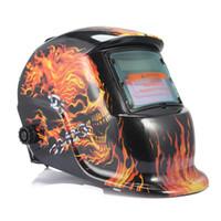 Wholesale darkening welding - Solar Auto Darkening Welding Mask Helmet Electric Weld Cap Solar Auto Darkening Electric Welding Lens For Welding Machine Helmets