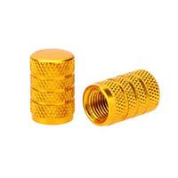 fahrradgold großhandel-Alloy Reifenventilkappe, Fahrrad, Motorräder und Autos mit Schrader-Ventil, 2er Set, Gold