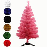 escritorio popular al por mayor-Popular 60 cm árbol de navidad artificial copo de nieve navidad árbol de plástico año nuevo adornos para el hogar decoraciones de escritorio árbol de navidad