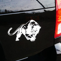 Wholesale car parts for sale - 19 CM D Fiery Wild Panther Hunting Car Body Decal Motorcycle Stickers Motorbike Decoration Accessories Parts