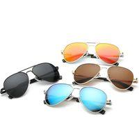 óculos de sol de criança de qualidade venda por atacado-Qualidade superior crianças piloto óculos de sol óculos de armação de metal lentes polarizadas óculos de sol uv400 proteção aviador 3025l crianças óculos