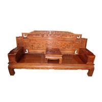 antike massivholzmöbel großhandel-Moderne klassische Sofakombination der afrikanischen gelben Birne hölzerne antike Massivholzmöbel Mahagonisofa-Möbel stellten Kombination ein