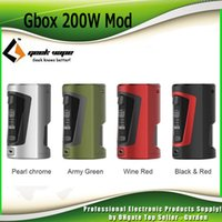 Wholesale ecig bottles - Original GeekVape GBOX 200W Squonker Box Mod TC Dual 18650 Battery 8ml Squonker Bottle Ecig Mods Geek Vape 100% Authentic